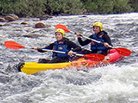 Descenso del Alagón en canoas